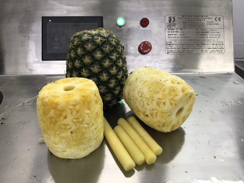 大型智能菠萝削皮-切端-去芯-切瓣-分离机