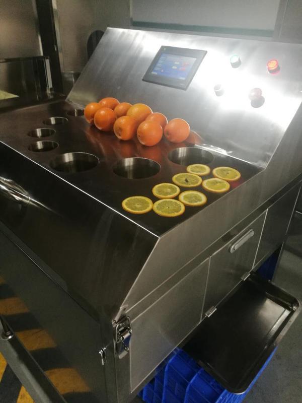 厂家供应高速橙子切片机,秒切16片,片片正圆