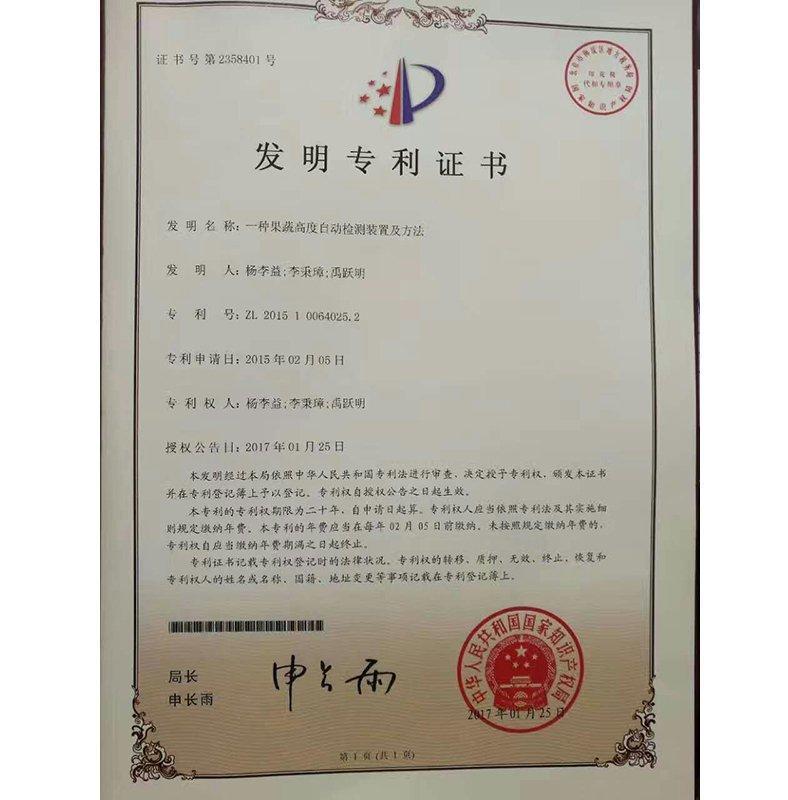 高度自动检测专利